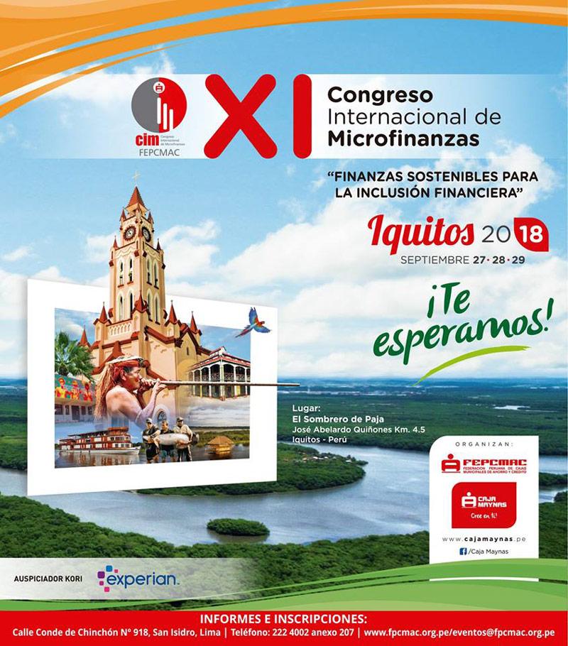 CONGRESO INTERNACIONAL DE MICROFINAZAS SE REALIZARÁ EN IQUITOS a734288f860